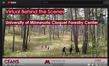Screen capture of the CFC Virtual Behind the Scenes webinar recording